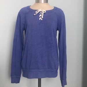 SO Perfectly Soft Crew Lace-up Front Sweatshirt